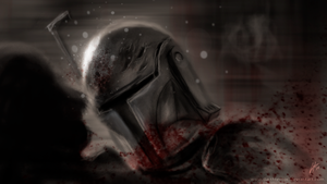 Mandalorian butting by DarthTemoc