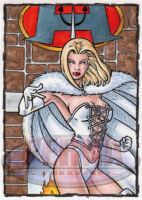 White Queen Sketch Card by tonyperna