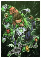 Green Lantern Corps by wilson-go