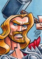 Thor Sketch Card by Chad73