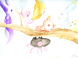 Watercolor Elebits by 8Kaylin8