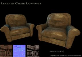 Leather Chair by Mellon3D