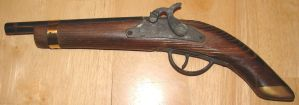 Old Replica Flint Pistol Left by FantasyStock