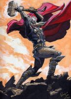 Thor Color Sketch by RenaeDeLiz