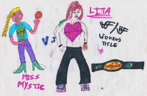 WWF and HWF Womens title battle by WhippetWild