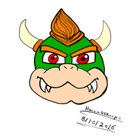 Bowser head by HuswserStar