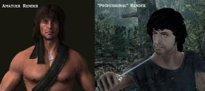 Rambo Render Comparison by TheDemonsReflection