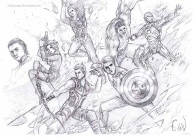 Avengers - Sketch by Arlequinne