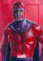 Magneto marvel 70th card 59 by charles-hall