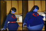 Kristina swells up into a blueberry (My version) by JuacoProductionsArts