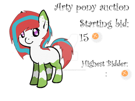 Arty Pony Auction :CLOSED: by Shimmering-Adopts