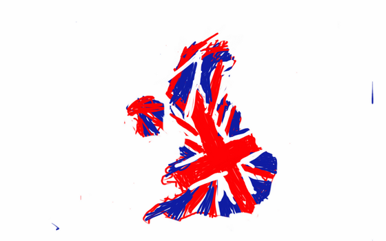 Crude UK flag map by UNPSTcommandermark