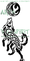 Howling Knotwork Wolf Tattoo by WildSpiritWolf