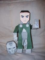 Dr. Doom Paper Hero by SharkBomb
