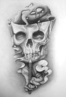 PENCIL SKULL by przemek2088