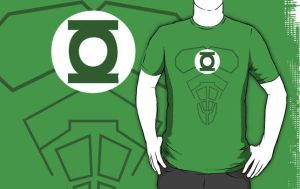 Green Lantern T-Shirt by drg
