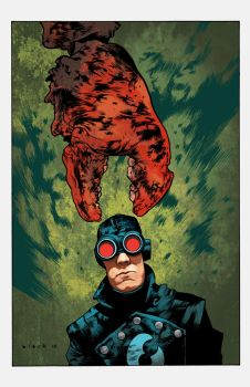Lobster Johnson colors by stevenrussellblack
