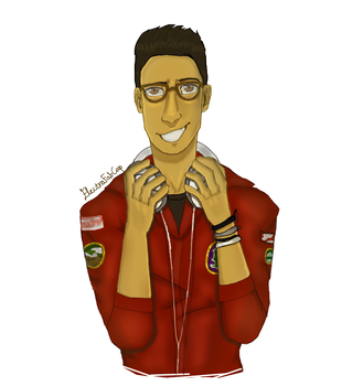 Michael Mell from Be More Chill (SPEEDPAINT) by Electra-Fab-Cap