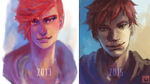 Improvement Meme: 2 years by mangoekaki