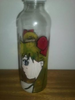 sailor venus on bottle by Sailorferchy