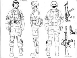 US Soldier Concept Art by CrashyBandicoot