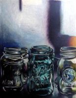 Jars in color pencil by SurpassingSolitude