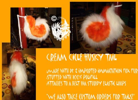 cream ciclehusky tail for sale by L-Hiver