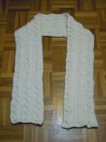Cabled scarf by Thyme-Sprite