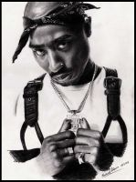 Tupac by MikeRobinsArt