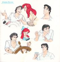 Disney sketches - The Little Mermaid 2 by ariartna