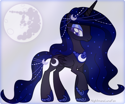 Commission: Moon themed Pony for CelineSparkle by NightmareLunaFan