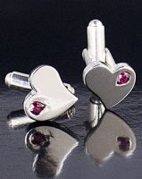 Heart Cufflinks by LittleRedx