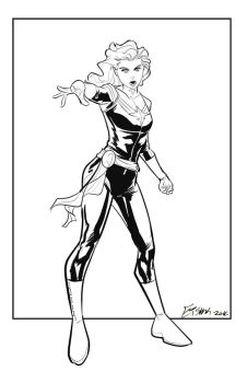 Captain Marvel Commission by Supajoe