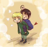 Hetalia-Chibi Aus and Switz by shunkancat