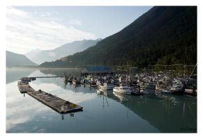 Bella Coola Harbour by cutterp
