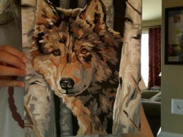 wolf painting by sooper-wolfeh-starr