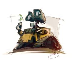 Wall E by paperpixy