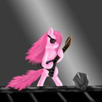 Pinkie rocks by The-Laughing-Horror