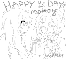X-HAPPY B-DAY MOMO -X by XUnknownVampireX