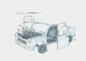 Trabant 601 - Exploded View by CentificGrafics