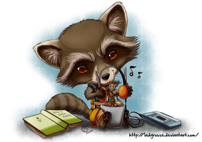 Fanart - Rocket and Groot by LadyRosse