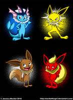 The Original Eevee Evolutions by MeckelFoxStudio