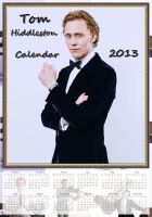 Tom Hiddleston - Calendar 2013 - No.2. by LuluDarling