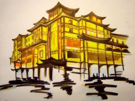 China Scene - markers by Malici0us