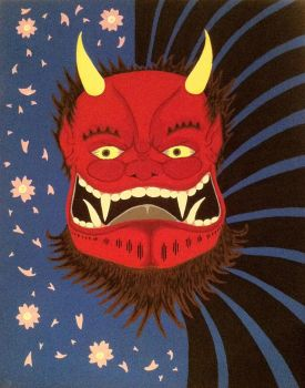 Oni Face by Bizzra