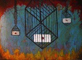 The Dysphasia : The Letters in Cage by Cocotte-Vero91