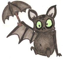 The umbrella bat by Octaviana