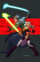 Clone Wars::Anakin and Ahsoka by E-Mann