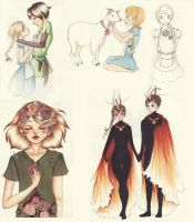 Hunger Games sketchdump by ph34rthecuteones