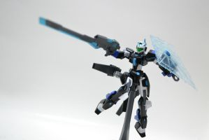 GN Archer ''Mikazuchi'': Beam Shield + Rifle Mode by gale015